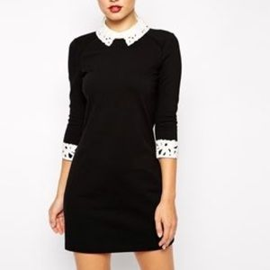Ted Baker size 1 black collared dress